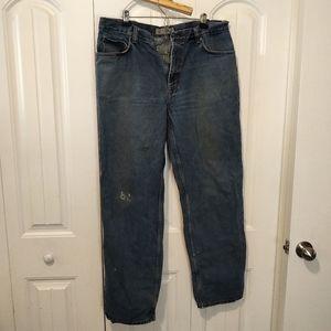 40x36 mid wash straight leg jeans denim